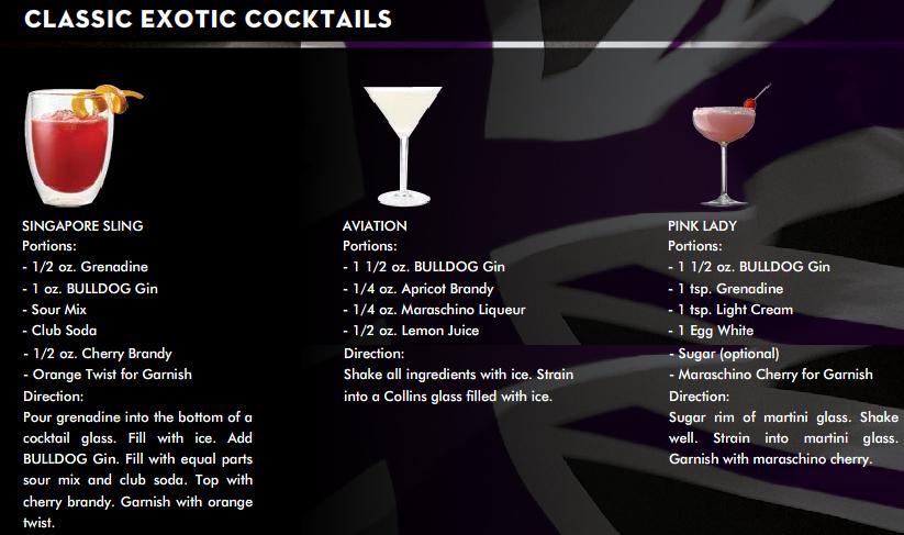 BULLDOG Gin Exotic Cocktail