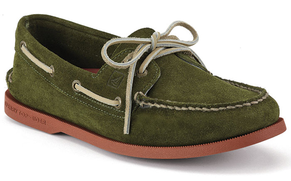 sperry-top-suede-green