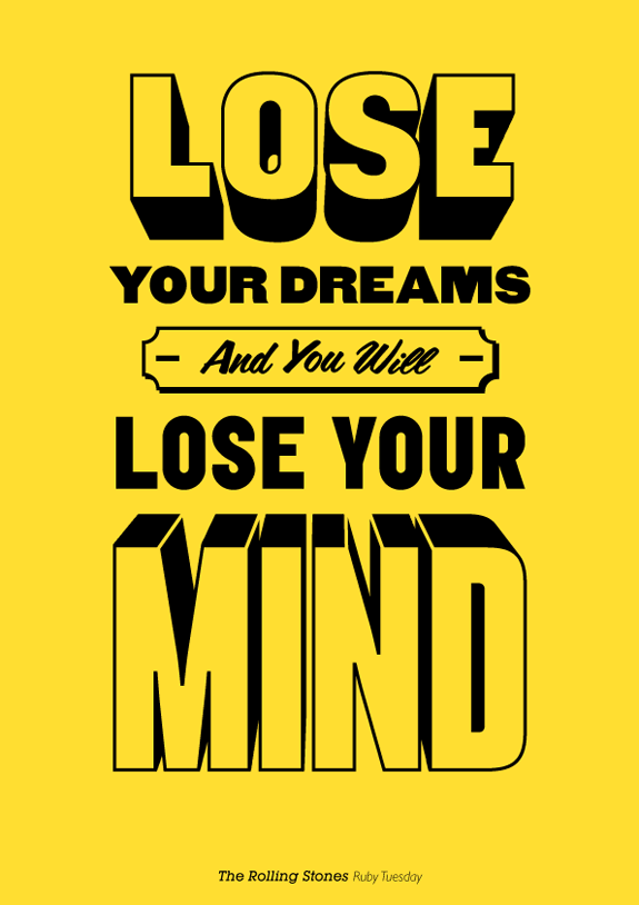 Song Quotes Made Into Posters TheRollingStones
