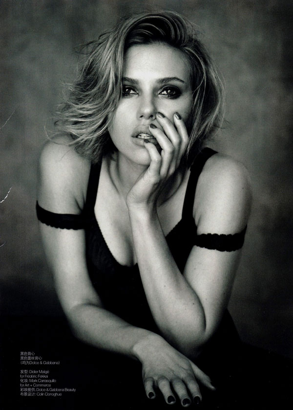 Scarlett Johansson for Vogue China