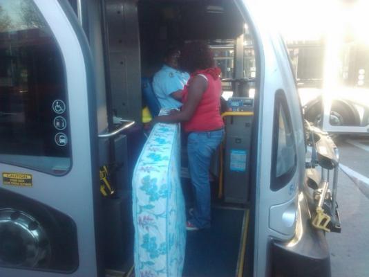 Mattress on City Bus