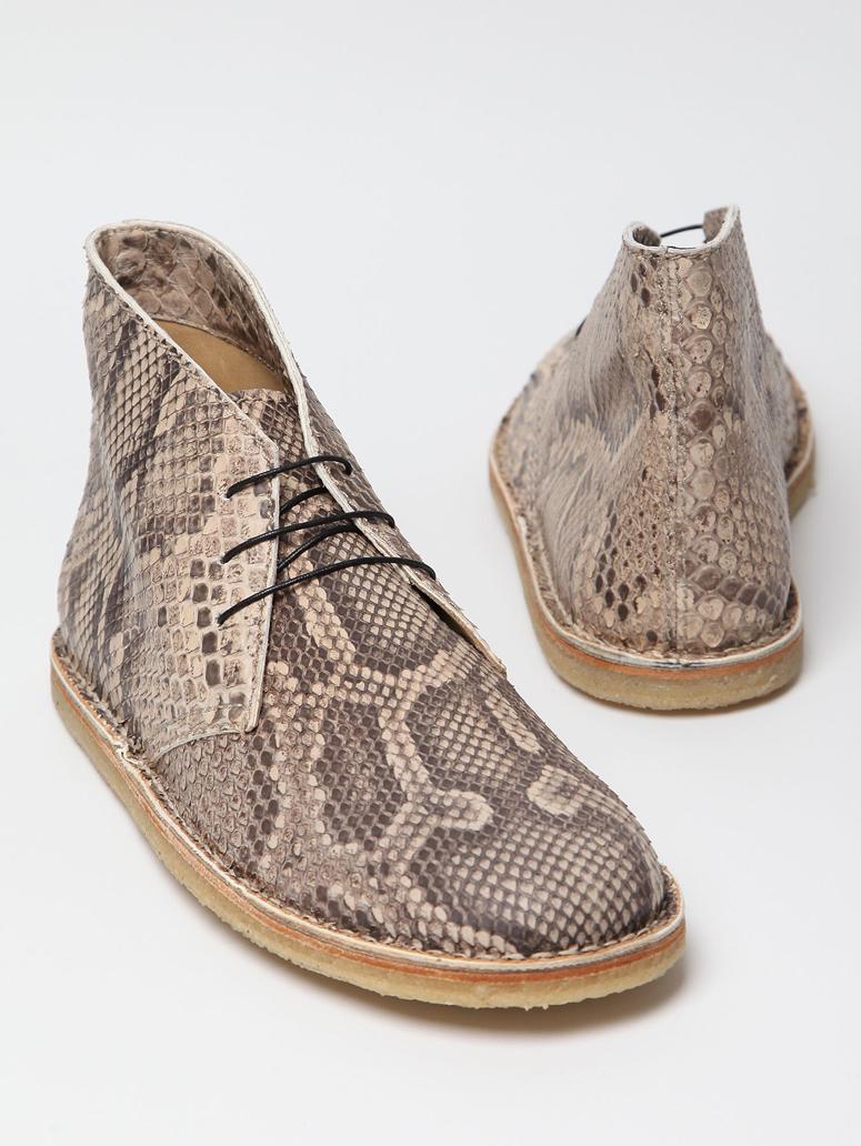 Acne Snakeskin Chukka Desert Boot