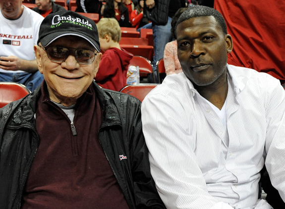 UNLV Coach Tarkanian and Larry Johnson
