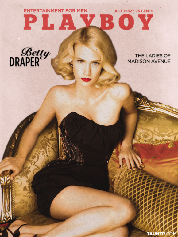 Betty Draper Made Men Vintage Playboy Cover