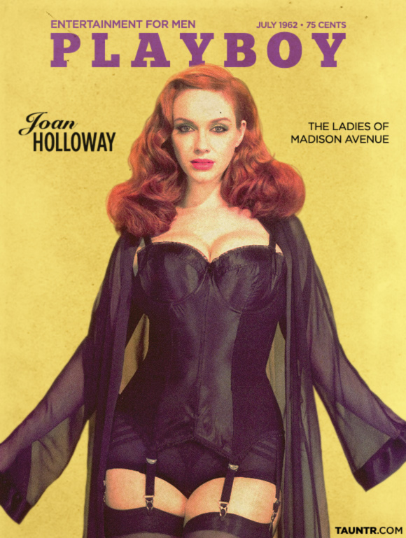 Joan Holloway Made Men Vintage Playboy Cover