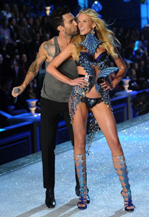 Adam Levine of Maroon 5 Anne Vyalitsina Victoria's Secret Fashion Show 2011
