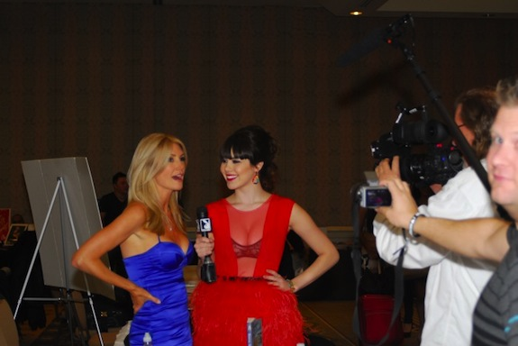 Claire Sinclair and Brande Roderick at Glamourcon