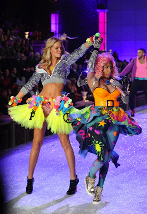 Erin Heatherton Nicki Minaj Victoria's Secret Fashion Show 2011