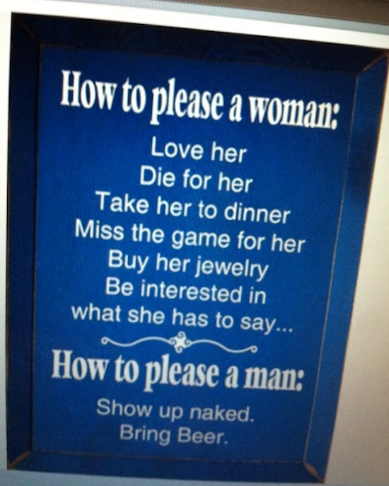 How To Please A Woman, How To Please A Man