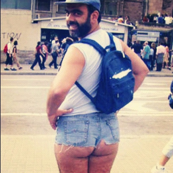Man in Short Shorts