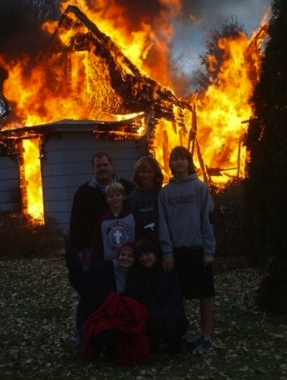 Burning House Photo