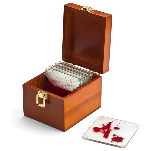Dexter Blood Spatter Coasters