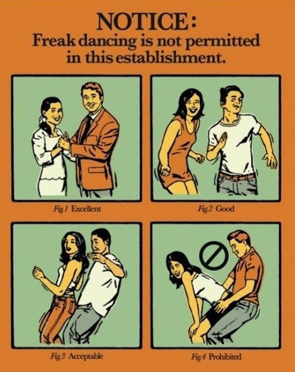Freak Dancing Prohibited
