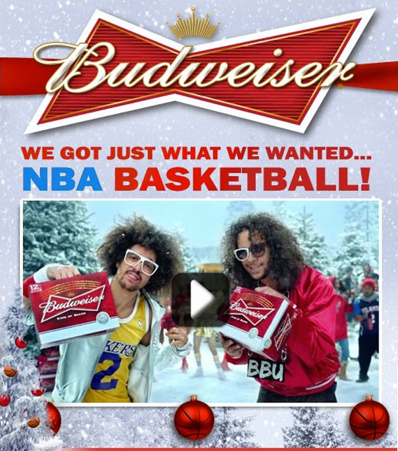 LMFAO NBA Budweiser Commercial Mark Cuban Steve Kerr