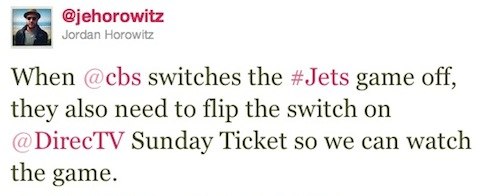 NFL Twitter CBS Jets Came