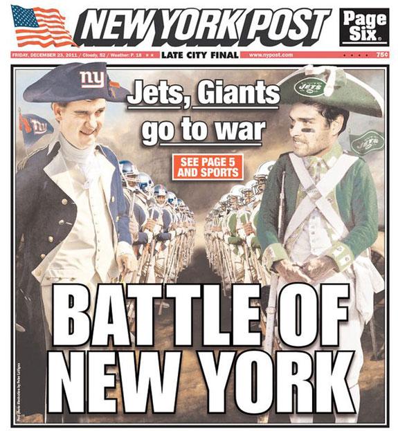 New York Post Battle Of New York Giants Jets