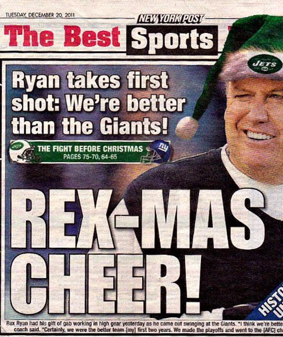 Rex Mas Cheer New York Post Giants Jets