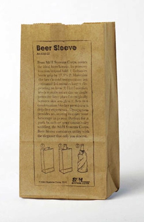 Beer Sleeve Brown Paper Bag