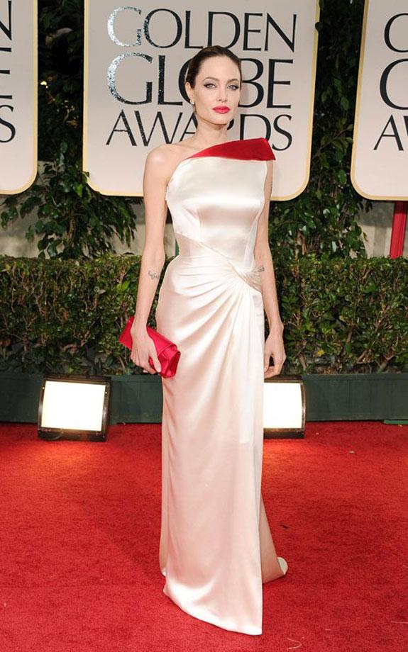 Angelina Jolie Golden Globes 2012