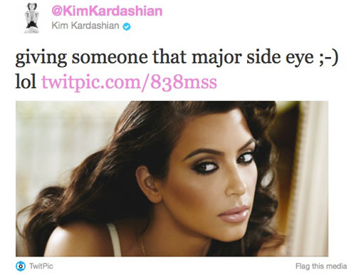 Kim Kardashian Twitter Photo