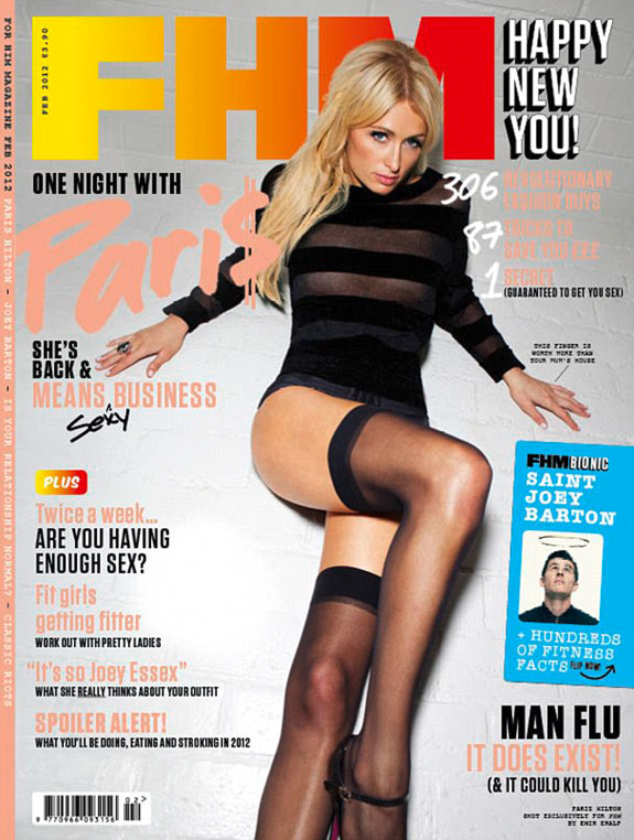 Paris Hilton FHM Cover