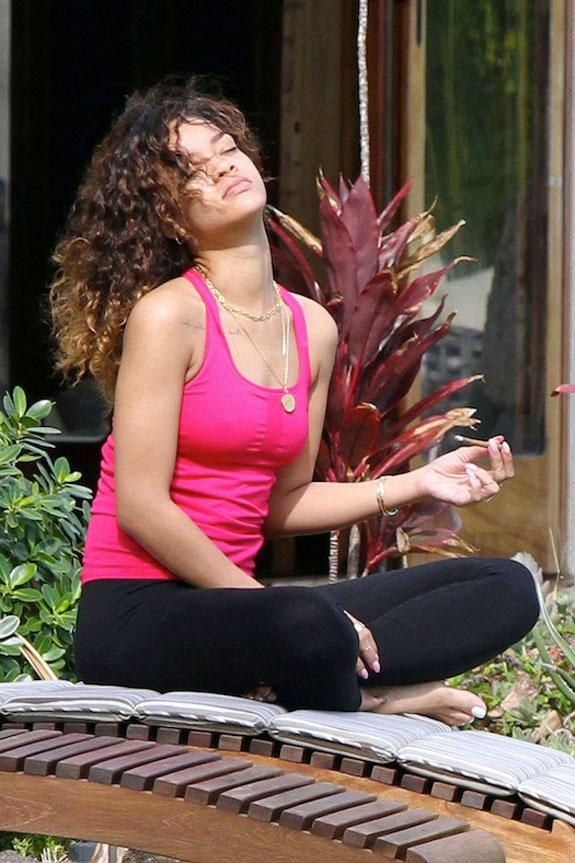 Rihanna Smoking Weed Pot