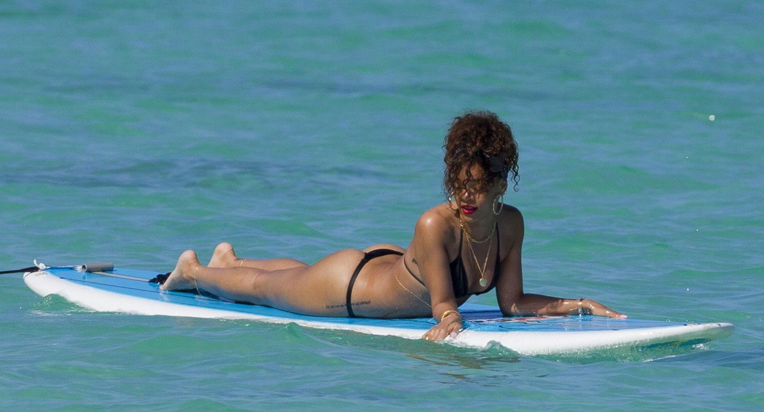 Rihanna Thong Bikini Hawaii