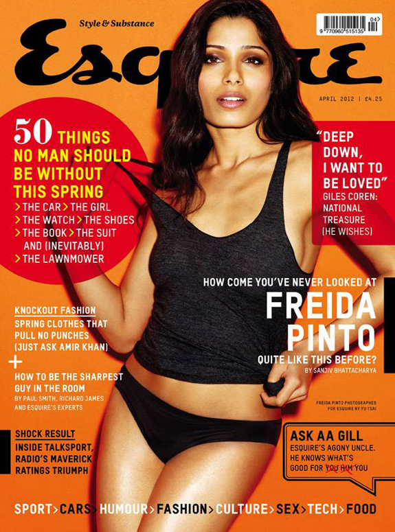 Freida Pinto Cover Esquire Magazine