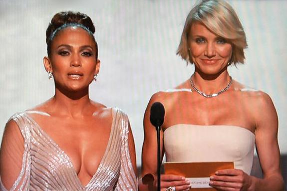 Jennifer Lopez JLo Nipple Slip Oscars Twitter
