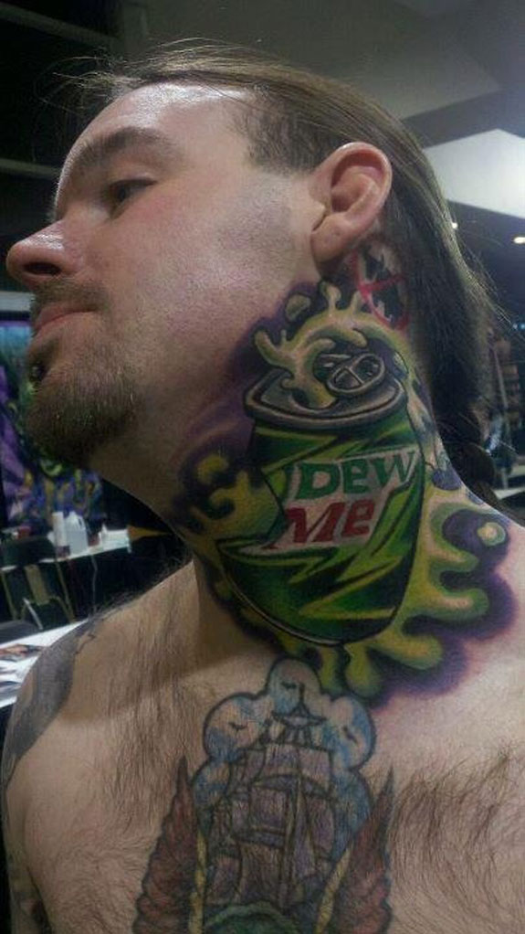 Mountain Dew Me Tattoo