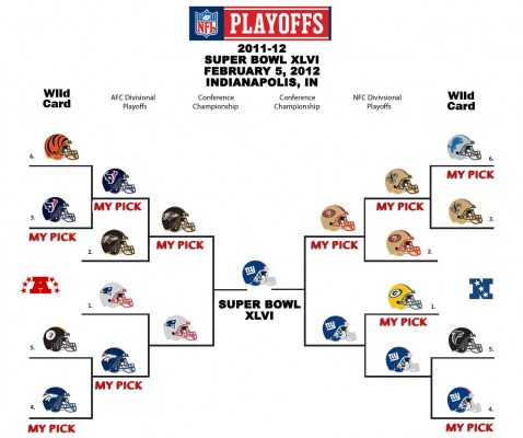 NFL Super Bowl Picks Playoffs Picture 2012