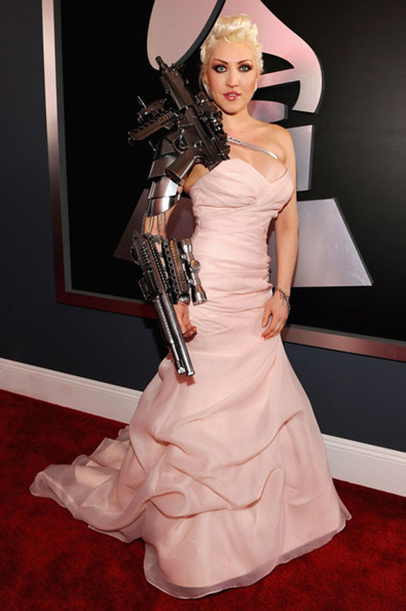 Sasha Gradiva 54th GRAMMY Awards Red Carpet