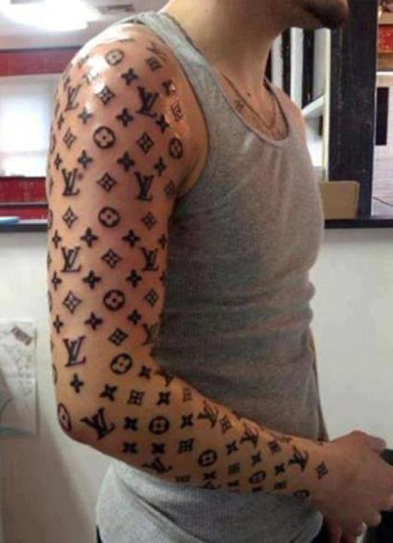 Louis Vuitton One Arm Sleeve Tattoo Fail