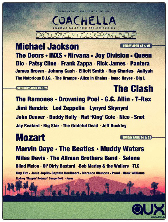 Coachella The Exclusively Hologram Line Up
