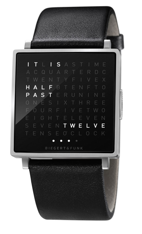 Qlocktwo W Watch Stainless Steel