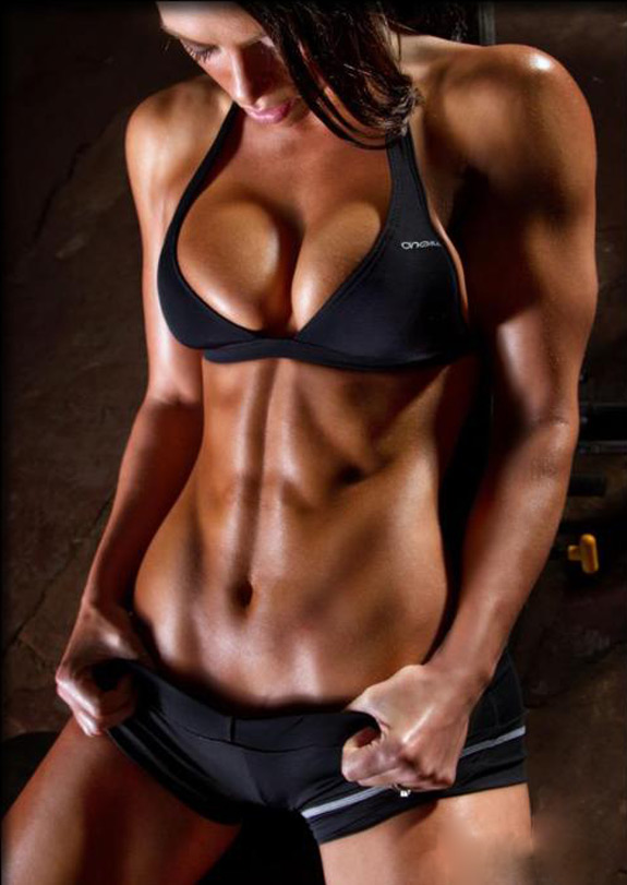 Daily ABspiration Hot Chicks With Hot Abs Muscles Black Bikini