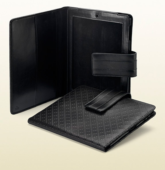 Gucci IPad 2 Cover Black Diamante Leather