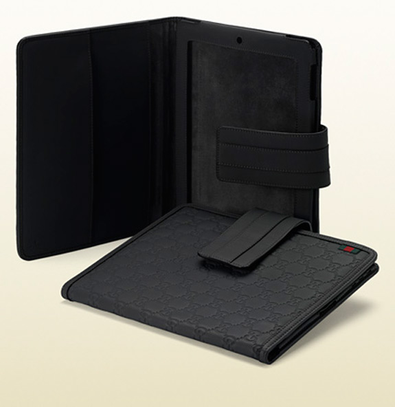 Gucci IPad 2 Cover Black Rubber Guccissima