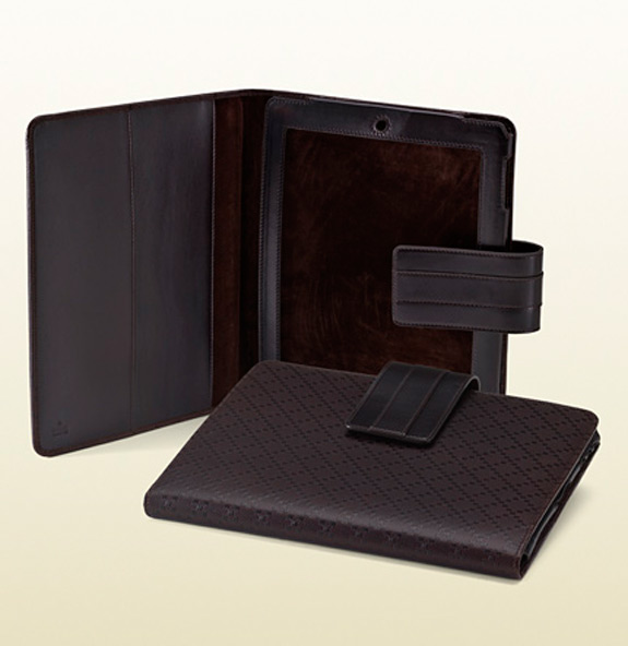 Gucci IPad 2 Cover Dark Brown Diamante Leather