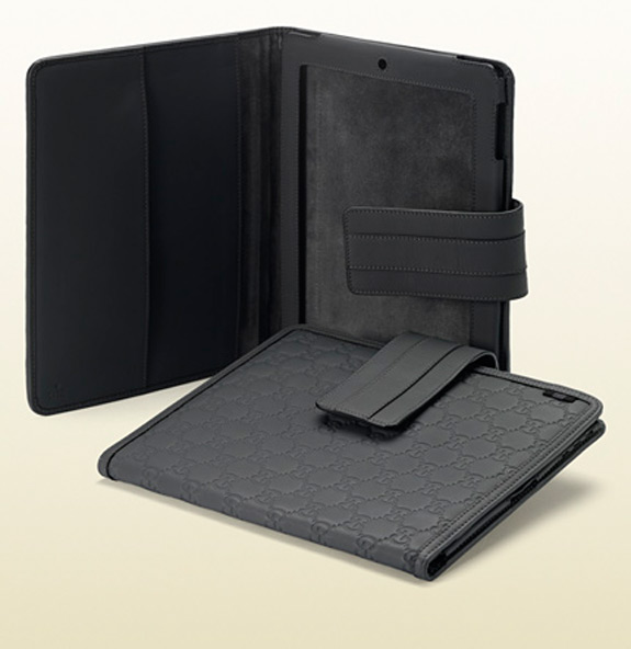 Gucci IPad 2 Cover Dark Grey Rubber Guccissima