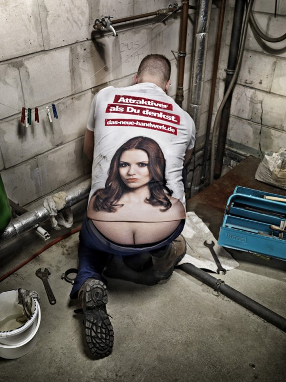 Caption This Plumber Butt Tits
