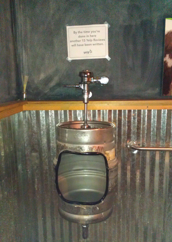 Beer Keg Urinal Toilet
