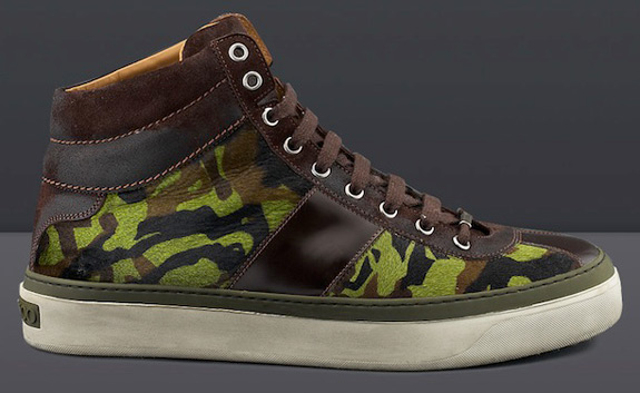 Jimmy Choo Belgravia Camouflage Print Sneakers