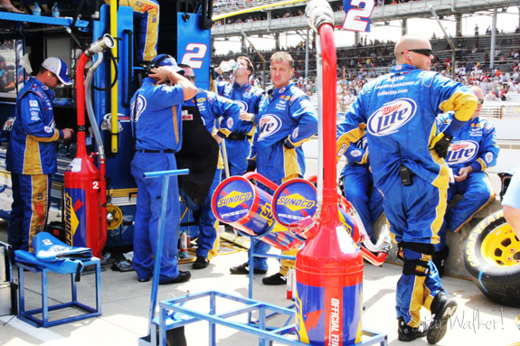 NASCAR Brickyard 400 Brad Keselowski Pit