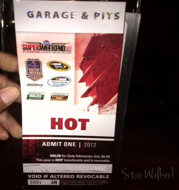 NASCAR Brickyard 400 Hot Pass