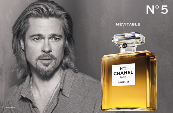 Brad Pitt for Chanel No. 5 Campaign