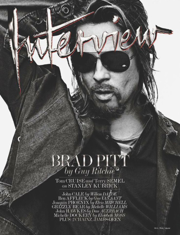 Brad Pitt Photos Interview Magazine Cover (11)