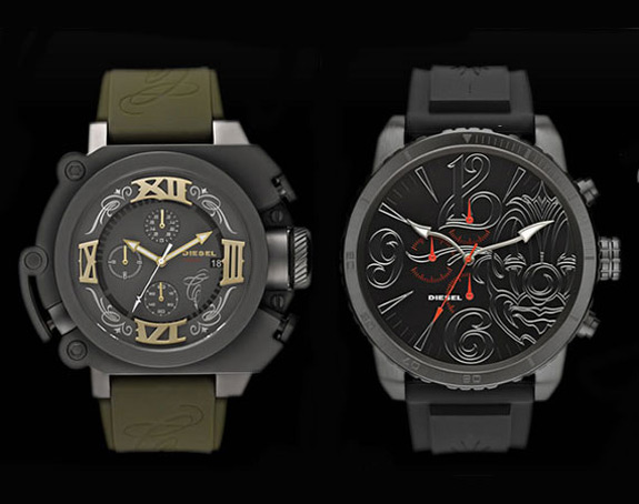 Tattoo artist mister cartoon exclusive limited edition diesel watch and time 2 ride documentary for Cartoon watches