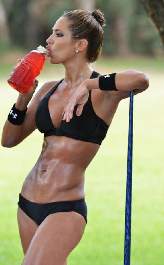 Daily ABspiration Hot Chicks With Hot Abs Gatorade