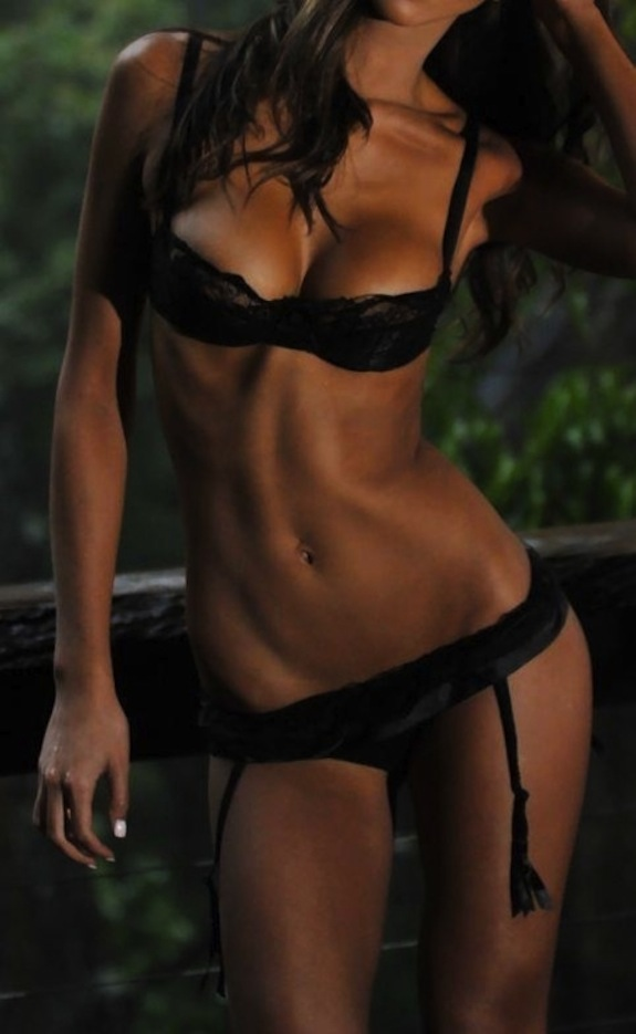 Daily Abspiration Hot Chicks Hot Abs Black On Black